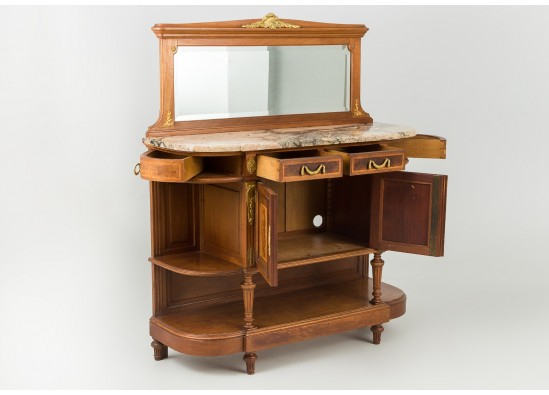 Commode with mirror