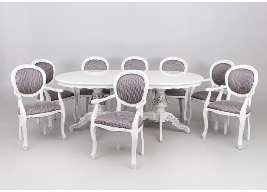 Valgomojo baldų kompletas