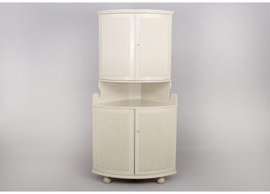 Угловой посудный шкаф