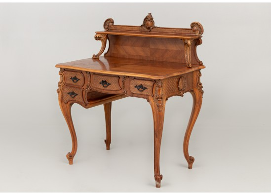 Desk with commode