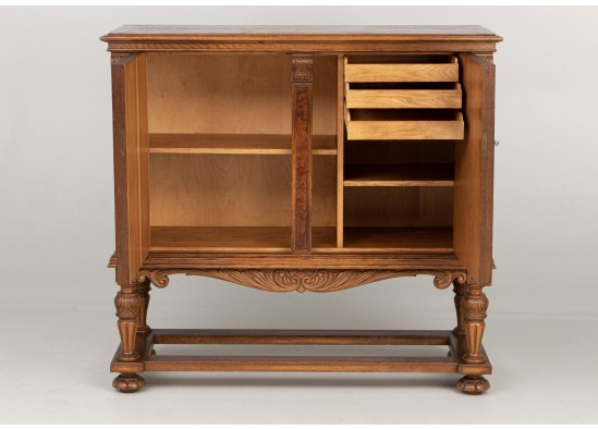 Dish cabinet-commode