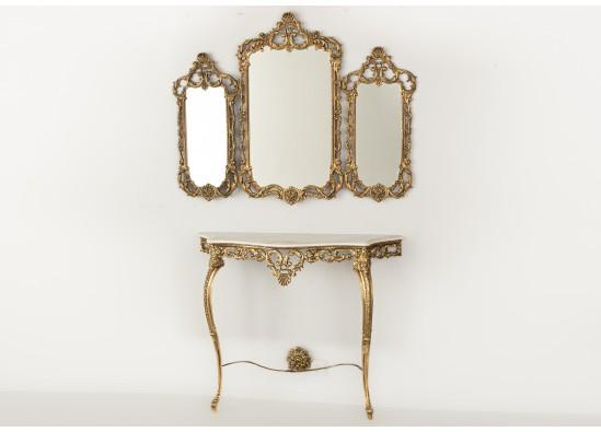 Konsolė su veidrodžiu