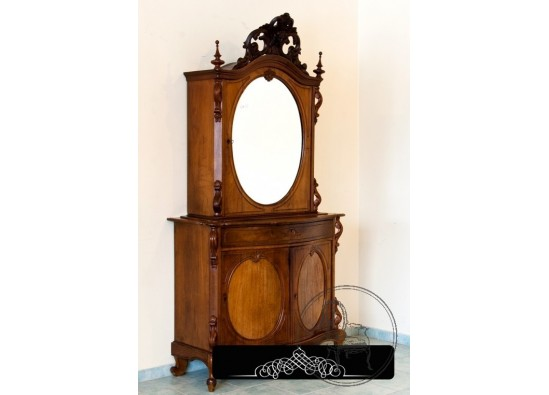 Old-fashioned dish cabinet
